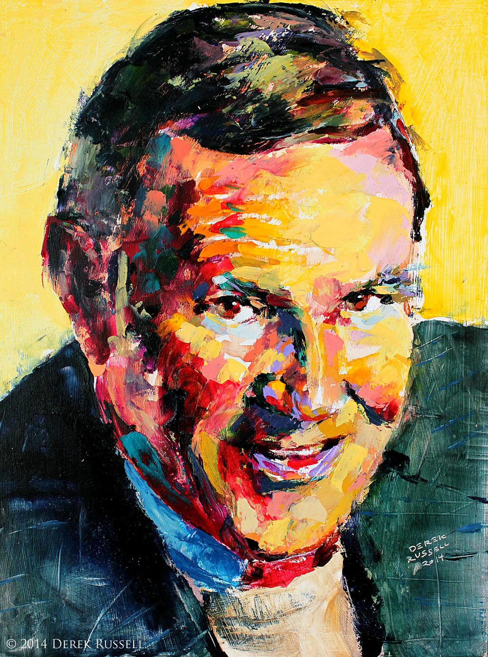 Donald Graham Original Portrait Pop Art Painting by Derek Russell