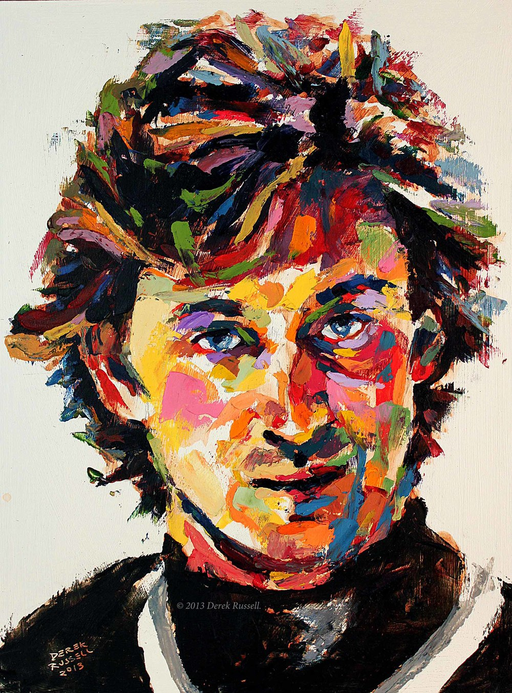 Wayne Gretzky Original Portrait Pop Art Painting by Derek Russell