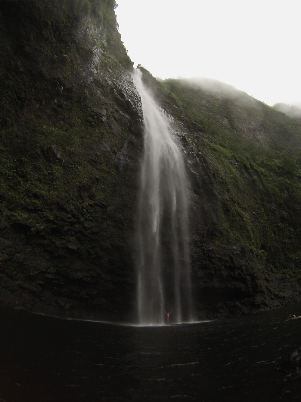 That's me celebratingunder a1600' waterfall in Kauai. Life is Beautiful