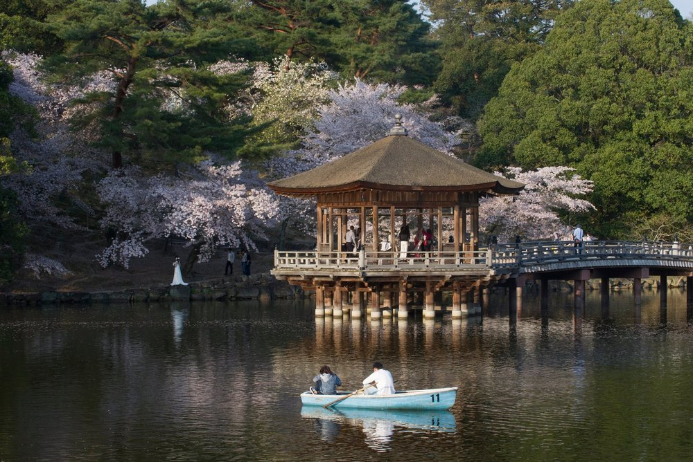 FIRST DATE IN A SMALL, BLUE BOAT WITH RYUGI AND JURI - 14 April 2017Photograph: Everett Kennedy Brown/EPA