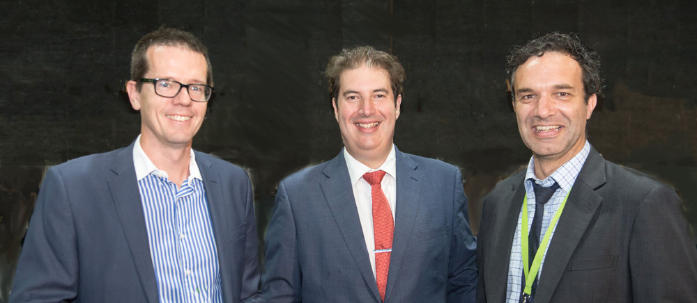 The Foundry Intellectual Property principals Dr Andrew Jones, Joe Seisdedos and Lester Miller at a  Good Design Awards  event after the jury had completed three days' judging. Foundry are partners of the Good Design Awards, this year in its 60th year as Australia's highest design accolade.