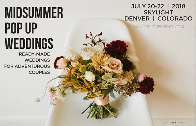 Thank you @couturecolorado for the love featuring our Popup Weddings with @wanderloveevents @weplusyou @heypartycollective @skylight.828 @mycocktailcaravan @yonder_house @yetiandthebeast and many more.  Get married in style this summer downtown Denver | Book now July 20, 21 or 22  WanderLoveevents.com