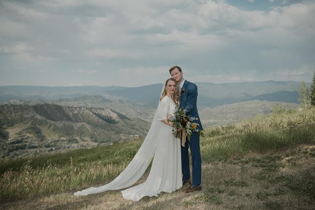 Hope everyone has had the most adventurous, wonderful summertime.  We've been playing in the mountains and having an unplugged from social media summer.  This is a favorite from Anna & Steve's @aspenco wedding day.  On the blog now.  #aspenweddings #aspenweddingphotographer #aspen #aspencolorado @milkglassproductions @mannequintheband