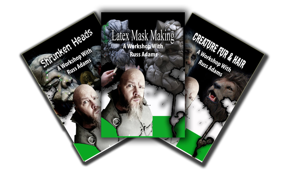 This how-to book series introduces new artists to several creative projects. From latex mask making to creature furring and hair punching,  A Workshop with Russ Adams  provides step-by-step instructions, humor,  nearly 100 diagrams, and quick reference check lists to help ensure a successful project.    ORDER YOUR COPY TODAY!