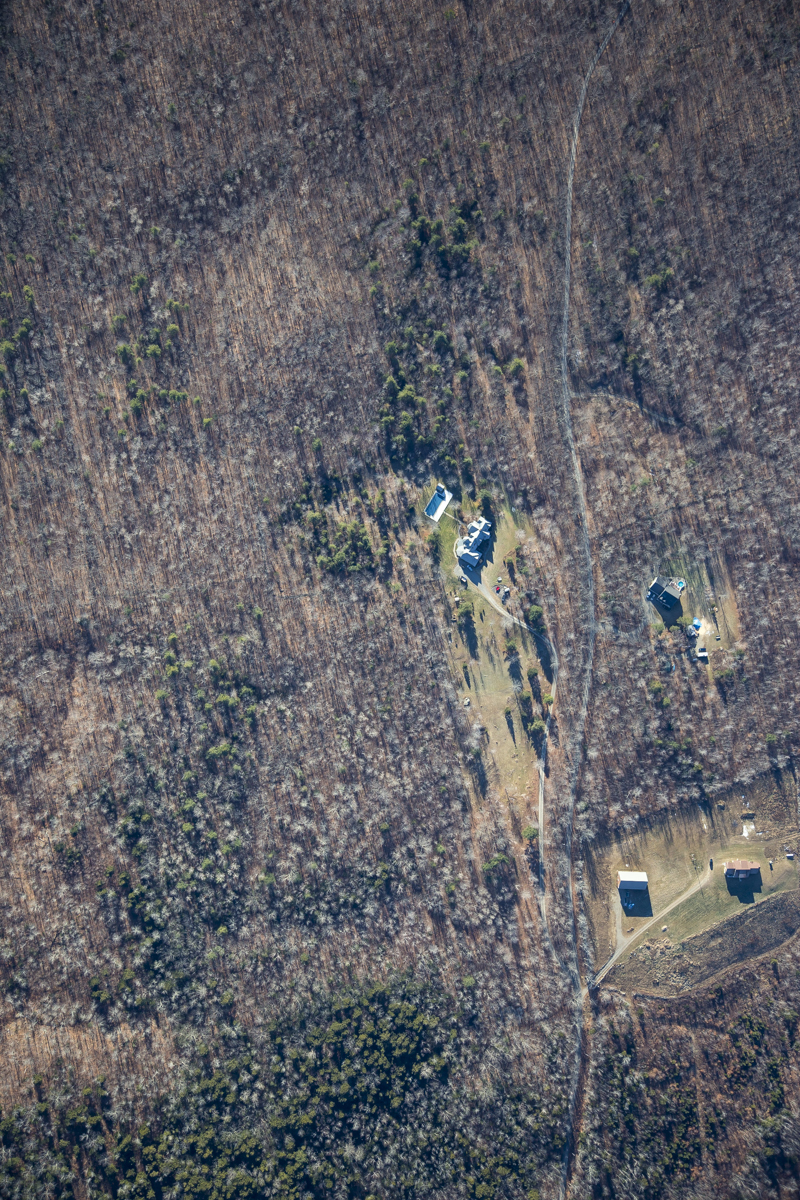 A vertical shot of the target property from 5000'.