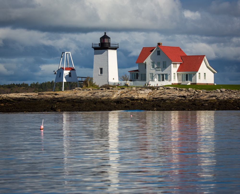 Hendricks Head Light.  Southport, Maine