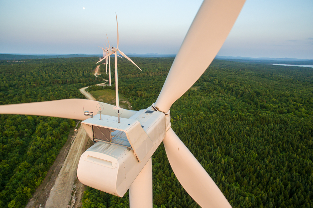 An aerial view of a wind farm, not possible by helicopter.  For a client last summer.