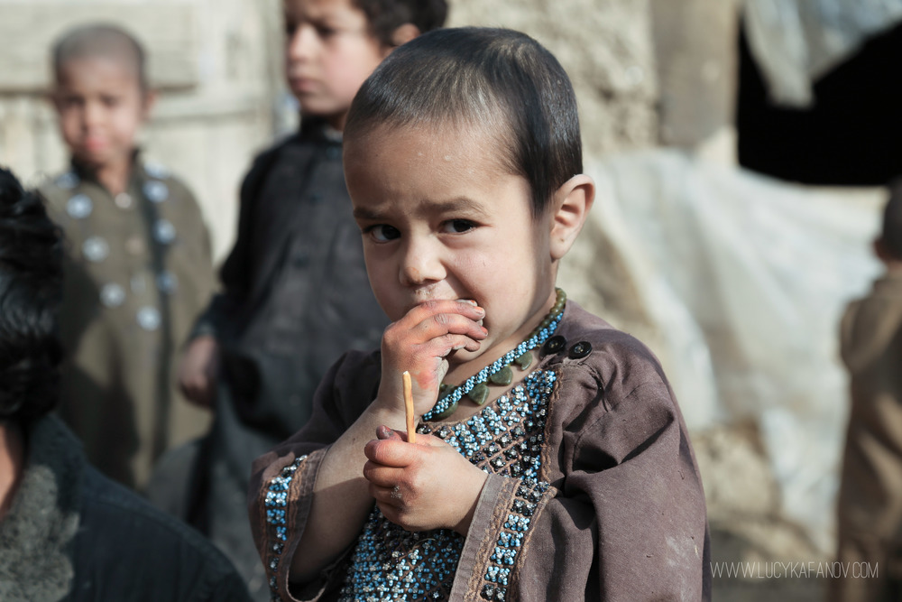 An Afghan boy at a camp for Internally Displaced People on the outskirts of Kabul.