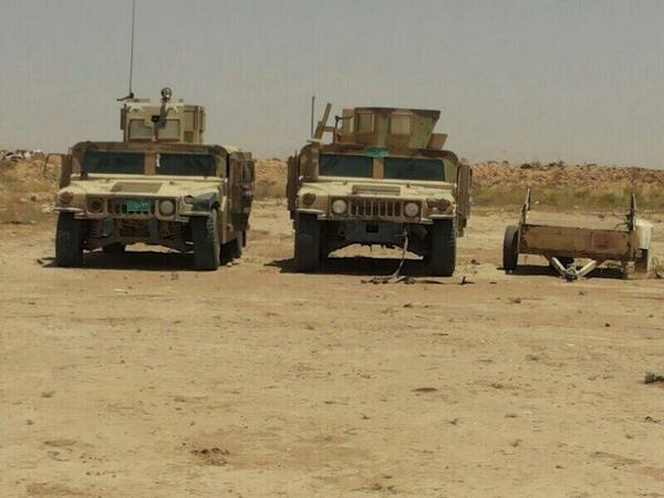 More US made Humvees captured by ISIS in Mosul. They're working fine. Already transferred to ISIS territory in Syria. via@jenanmoussa