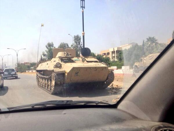 Pro-ISIS account @Spring4Iraqsays that they captured many tanks as well. #Iraq pic.twitter.com/kVs2HMXQKZ
