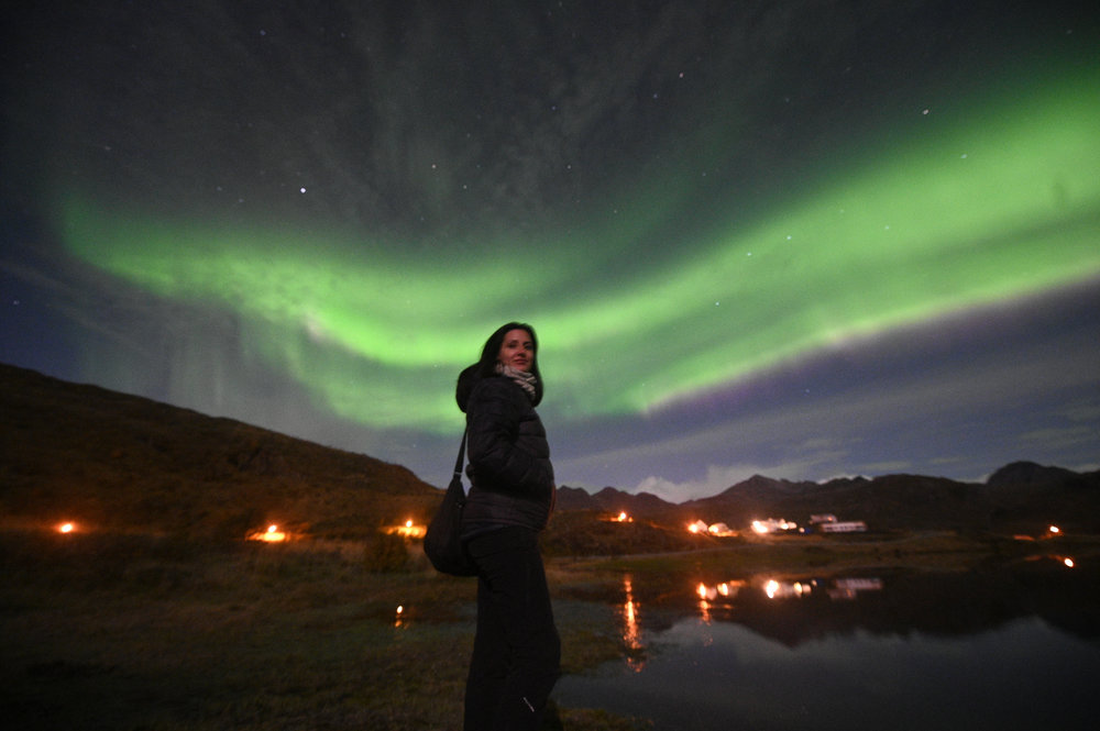 NBC'S LUCY KAFANOV UNDER THE NORTHERN LIGHTS. SEPTEMBER 2018