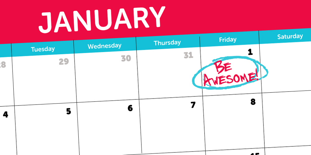 Pony-Friday-New-Years-Calendar-Be-Awesome-Resolution-Blog-Post-Header-Image
