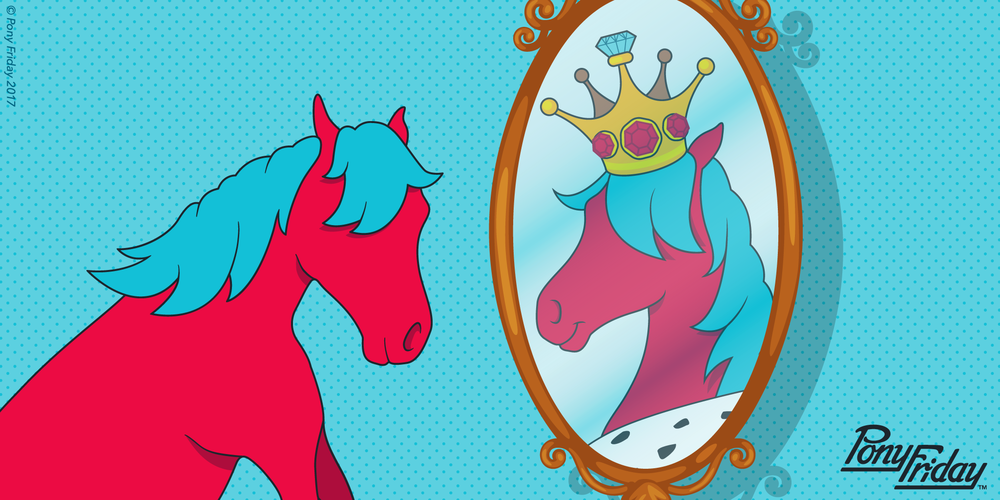 Pony-Friday-Mirror-Mirror-King-Royalty-Fraud-Imposter-Horse-Reflection-Blog-Post-Header-Image.png