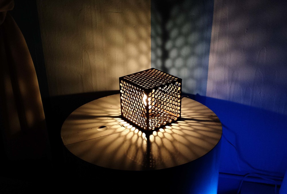 Laser Cut Interlocking Lamp Galexy Design