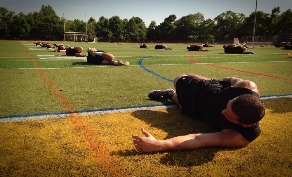Shooting a Russell Athletic spot in Jersey. Directed by Kevin McMullin.