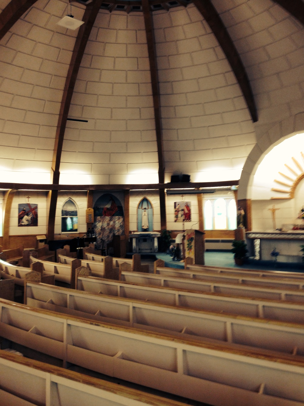 Inside the Igloo Church