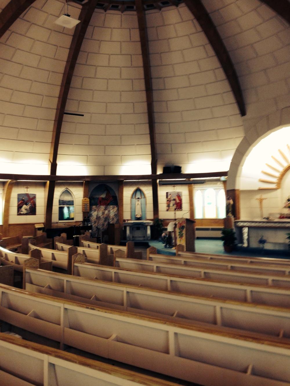 Inside the Igloo Church