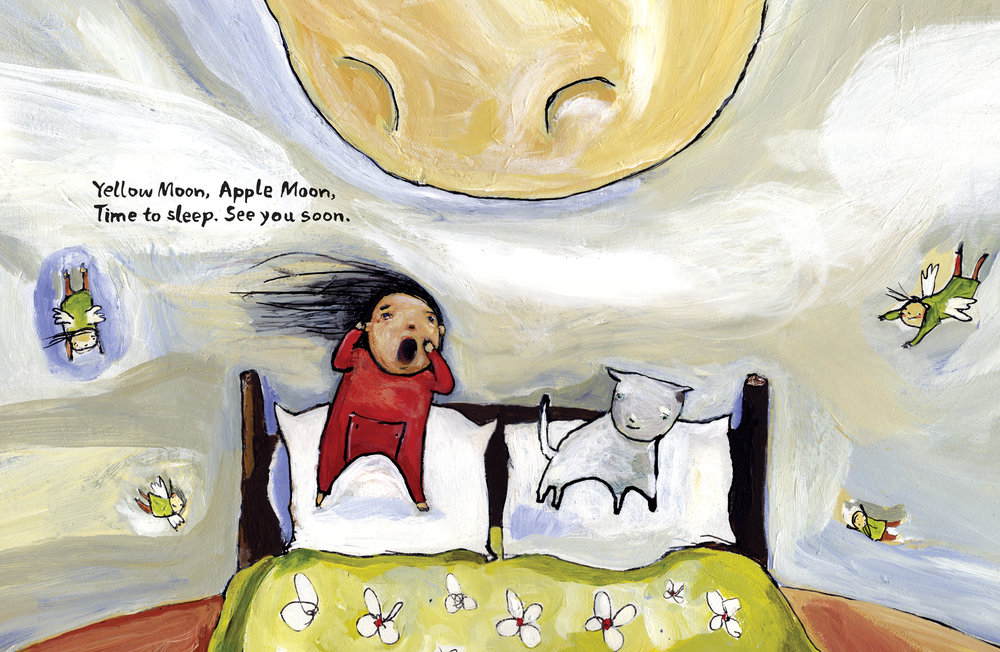 Yellow Moon, Apple Moon Written by Pamela Porter, Illustrated by Matt James