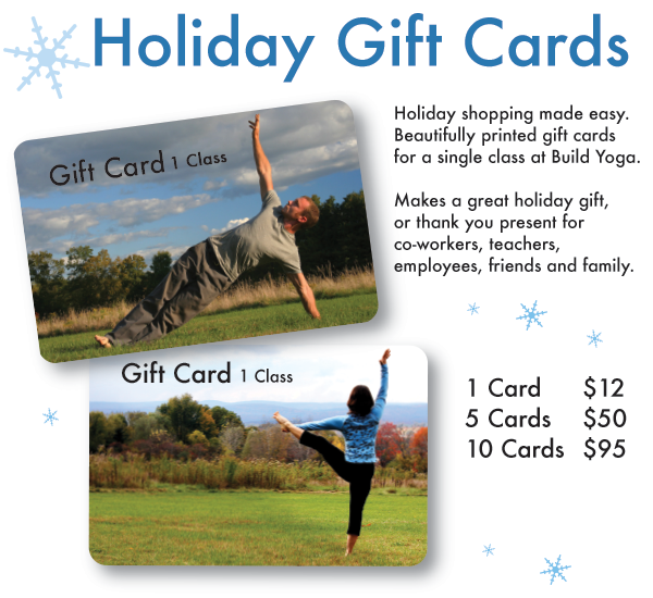 Order through December. Cards can be picked up in class or mailed to you.
