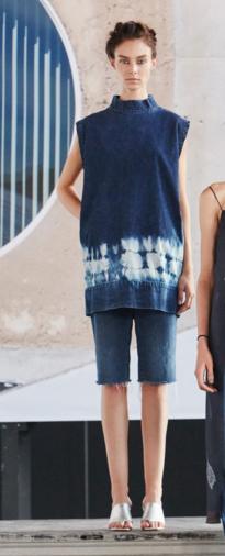 rachel comey tie dye denim 2016 resort
