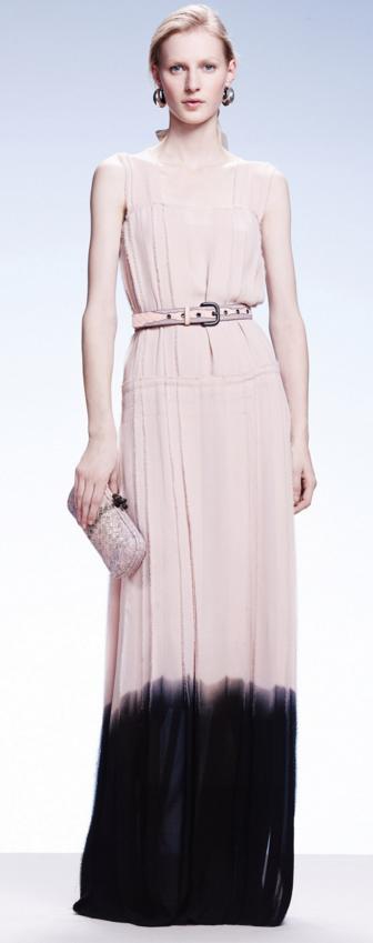 Bottega Veneta resort 2015 dip dye dress
