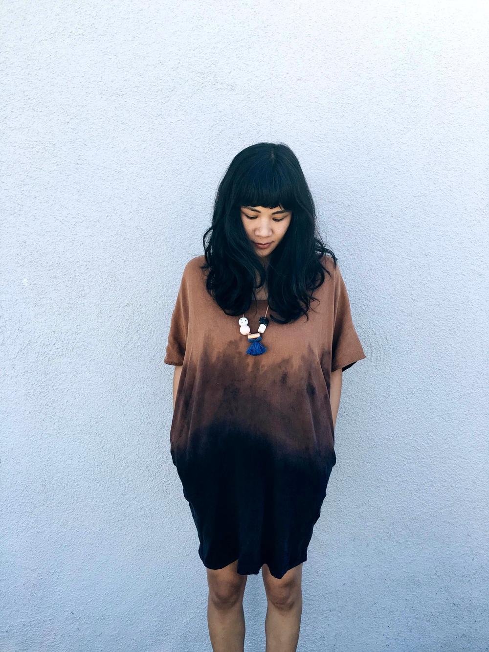 Melissa Sonico Jill Aiko Yee Sunset Tunic dip dye