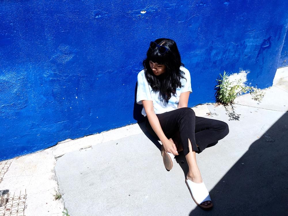 Melissa Sonico Jill Aiko Yee Explorer top indigo