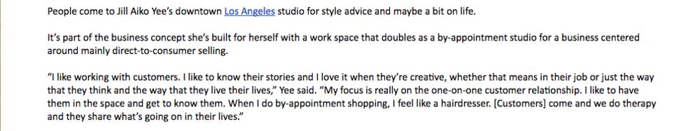 Jill Aiko Yee WWD Open Studio Saturdays