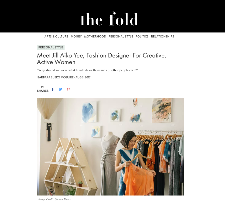 The Fold Magazine Barbara Sueko Jill Aiko Yee
