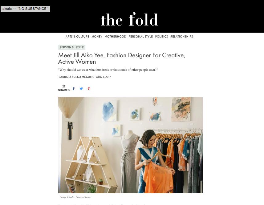 Jill Aiko Yee the Fold Barbara Sueko