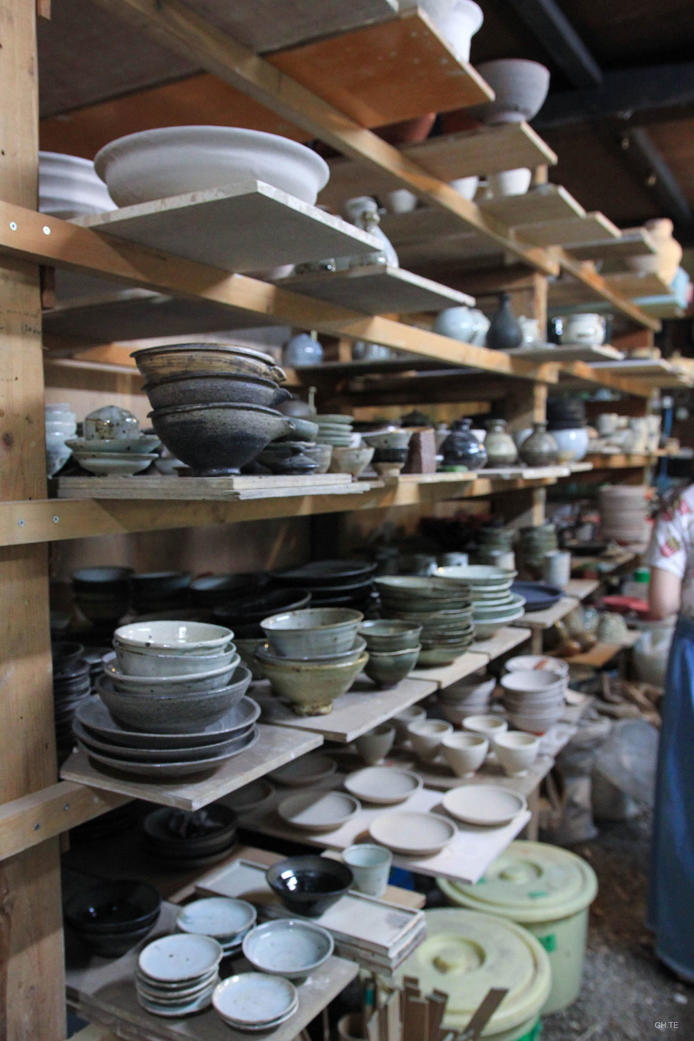 Shopping artisnal ceramics in Fujino, Japan.   Photo by Grace Hsieh