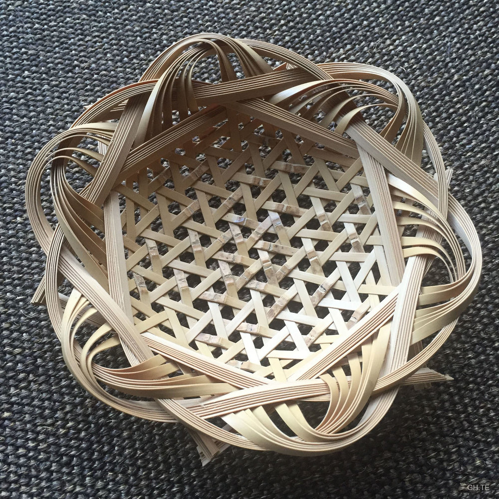 Bamboo basket weaving demo. Photo by  Grace Hsieh