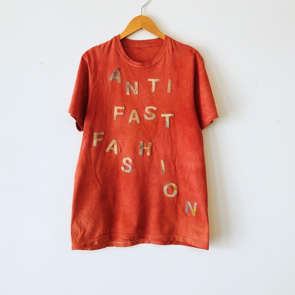 Anti Fast Fashion Madder tee Jennifer Parry Dodge