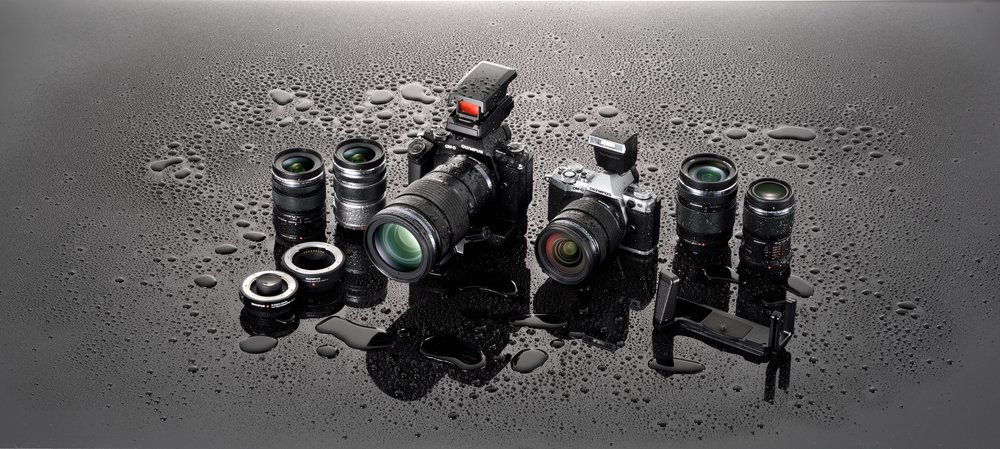 Olympus EM5 Mark II & select M.Zuiko Lenses are splashproof, dustproof, & freeze proof.