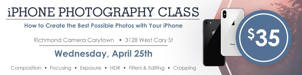 iPhone Photography Class at Richmond Camera Carytown