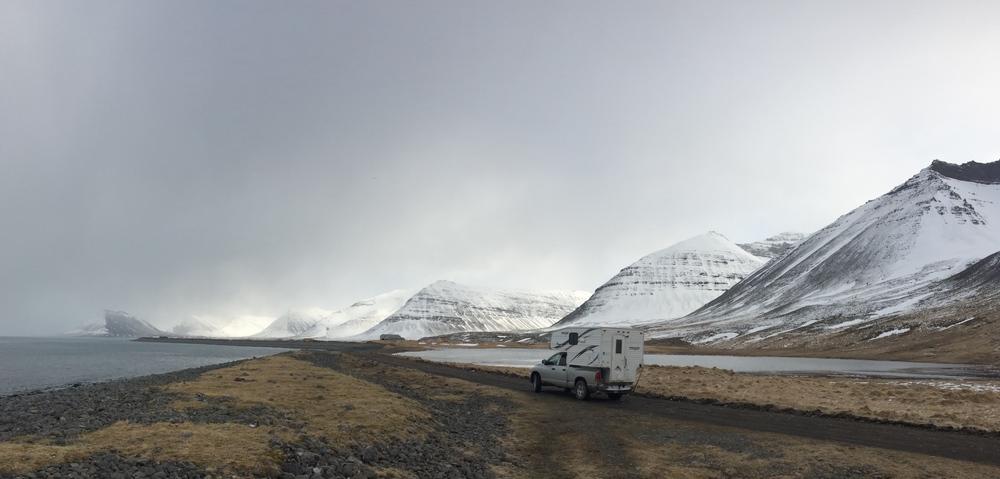 Driving to Ísafjörður.