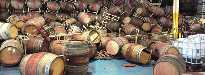 Full barrels can weigh 900 pounds.