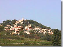 The hilltop village of Rasteau.