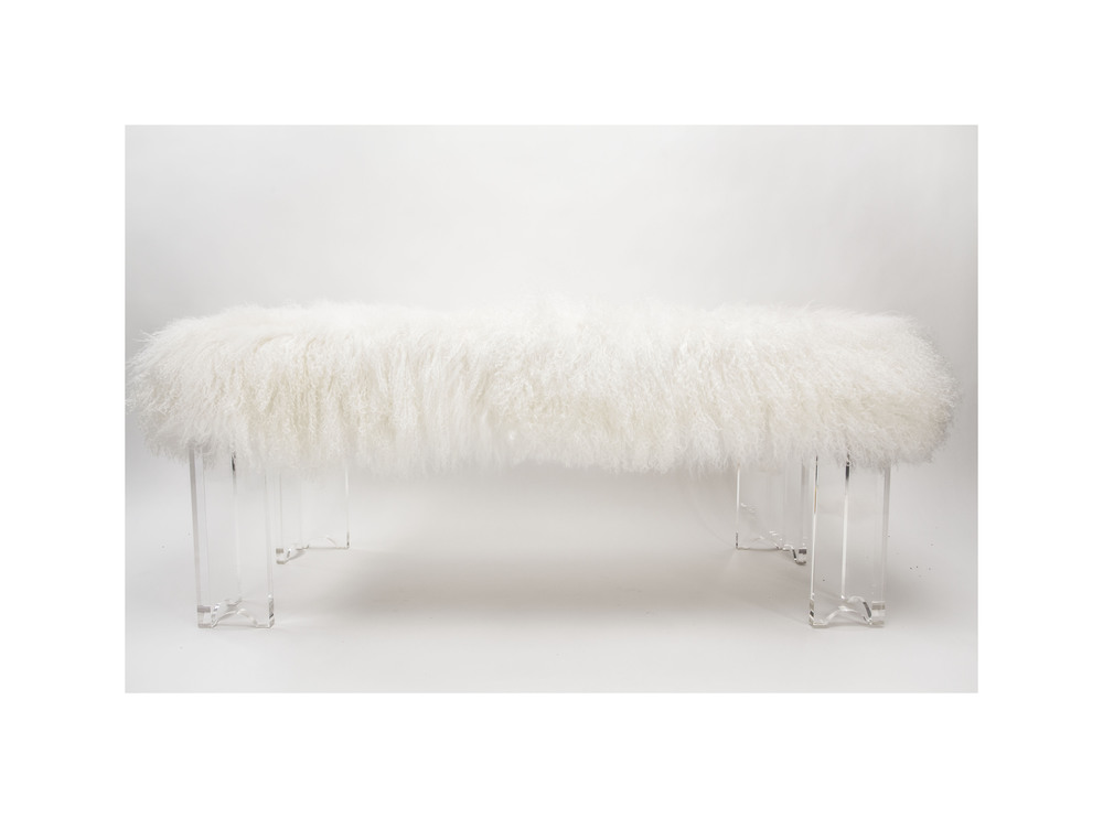 ARCHED FOUR LEGGED BENCH sugg. retail $3,300.00