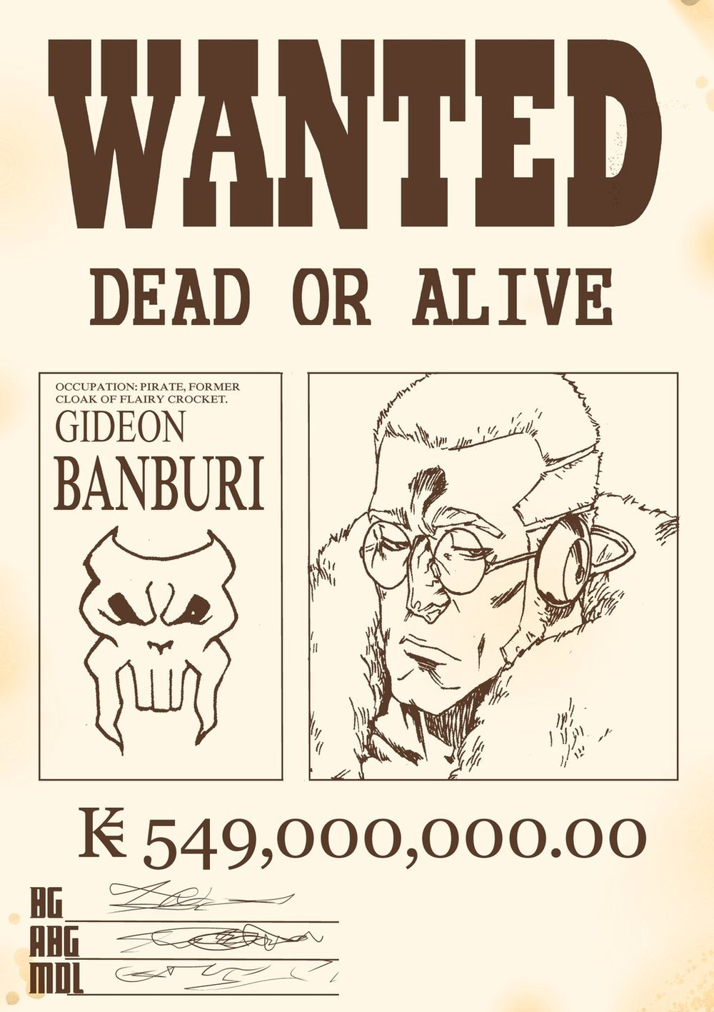 Gideon Banburi Wanted Poster