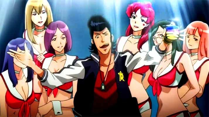 Not only does Space Dandy attempt to produce slap-stick level of satire regarding female-only waitress themed restaurants but it continues the trend of a tone-deaf lack of diversity.