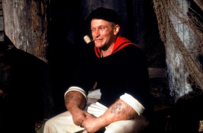The late and GREAT ROBIN WILLIAMS in the under appreciated, LIVE-ACTION POPEYE film