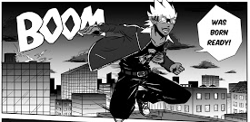 EXPLOSION JOE by American Ayinde Hall is our final new Saturday PLUS manga.