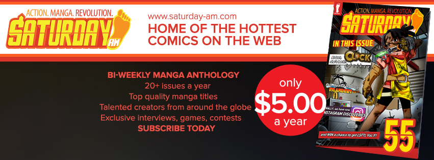 Saturday AM #55 features the debut of new manga, CLOCK STRIKER, and a chance to win LSFTL