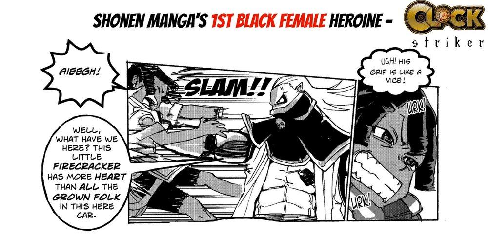 CLOCK STRIKER (shonen manga's 1st black heroine) by Frederick L. Jones and REKSE is in Saturday AM #60