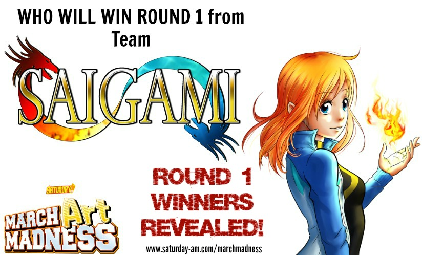 TEAM SAIGAMI WINNERS ARE LISTED BELOW FROM 386 total votes (not counting Staff)