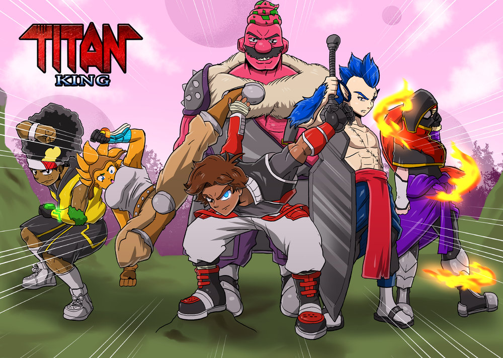 TITAN KING is a 1980's influenced EXCLUSIVE shonen manga by Tony Dawkins