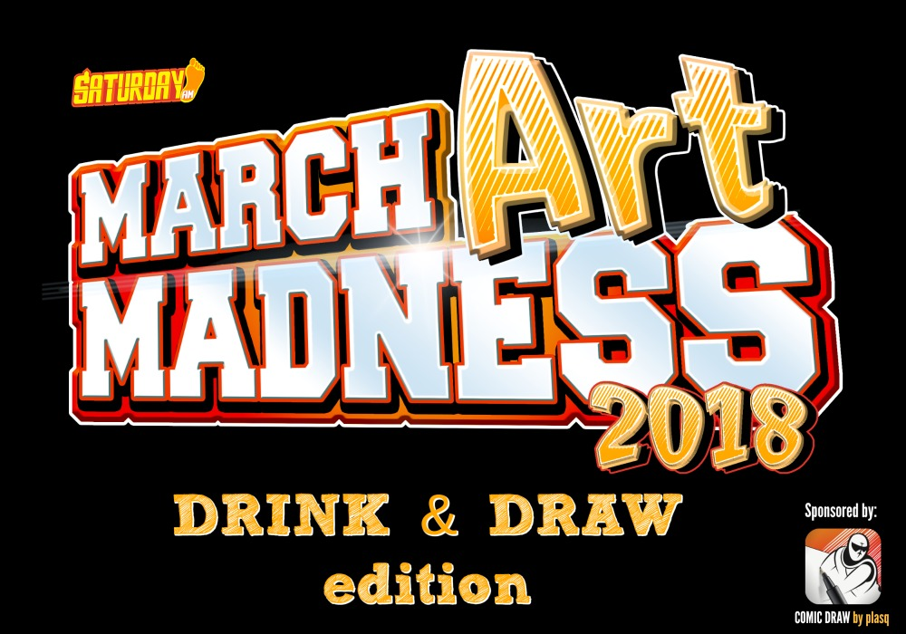 March ART Madness - the ultimate FAN ART TOURNAMENT by Saturday AM will have a special edition for Wizard World Cleveland 2018. Sponsored by Comic Draw app by plasq.