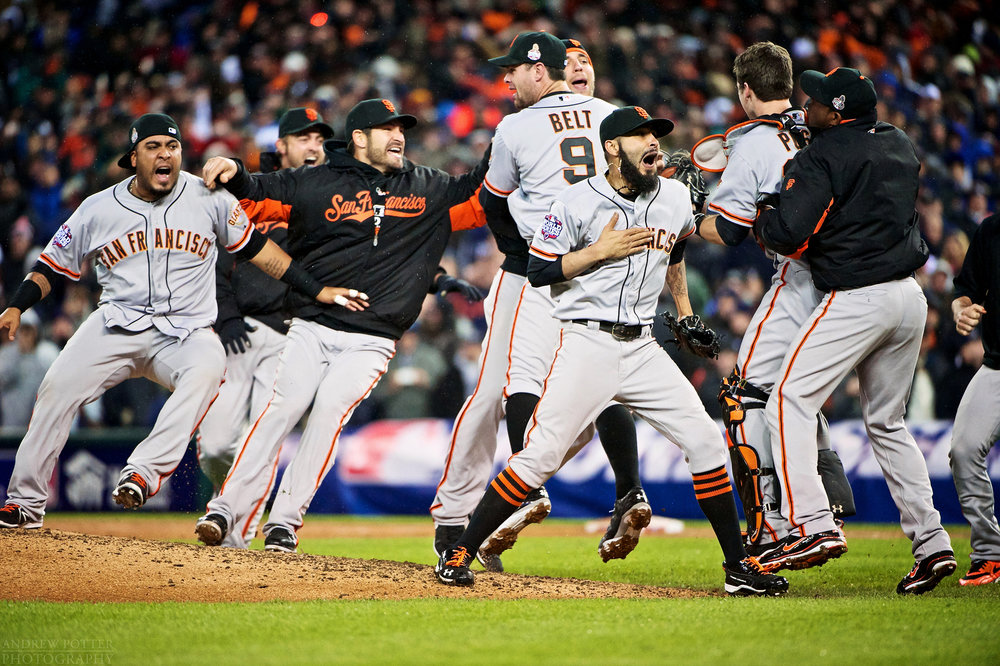 San Francisco Giants Catcher Buster Posey Closing Pitcher Brian Wilson