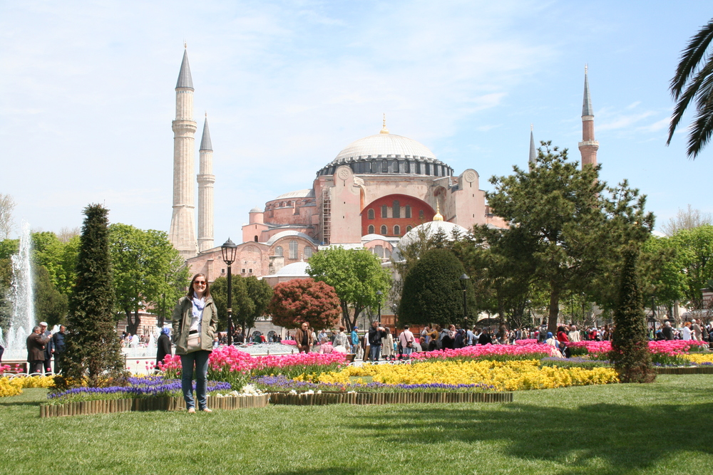 Me in Sultanahmet Park, looking towards the Hagia Sophia
